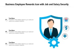 Business Employee Rewards Icon With Job And Salary Security Ppt PowerPoint Presentation Pictures Background Image PDF
