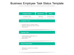 Business Employee Task Status Template Ppt PowerPoint Presentation Icon Background PDF