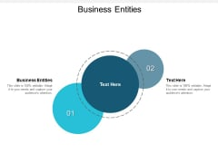 Business Entities Ppt PowerPoint Presentation Icon Rules Cpb