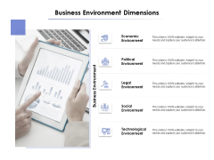 Business Environment Dimensions Ppt PowerPoint Presentation Icon Graphics Template