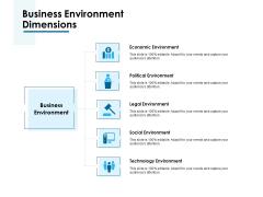 Business Environment Dimensions Ppt PowerPoint Presentation Summary Smartart