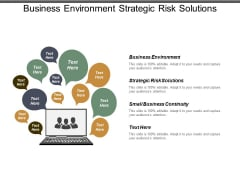 Business Environment Strategic Risk Solutions Small Business Continuity Ppt PowerPoint Presentation Outline Designs Download