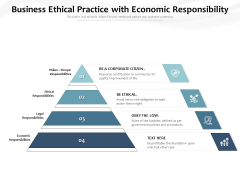 Business Ethical Practice With Economic Responsibility Ppt PowerPoint Presentation Gallery Guide PDF