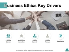 Business Ethics Key Drivers Ppt PowerPoint Presentation Professional Guidelines