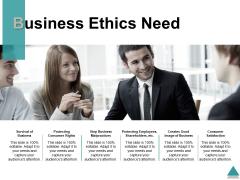 Business Ethics Need Ppt PowerPoint Presentation Inspiration Master Slide