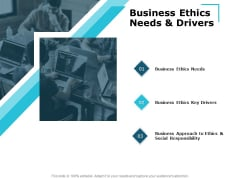 Business Ethics Needs And Drivers Ppt PowerPoint Presentation File Deck