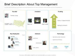 Business Evacuation Plan Brief Description About Top Management Ppt PowerPoint Presentation Icon Rules PDF