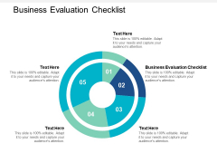 Business Evaluation Checklist Ppt PowerPoint Presentation Model Topics Cpb