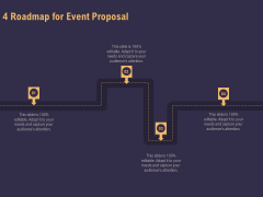 Business Event Planning 4 Roadmap For Event Proposal Ppt Ideas Show PDF