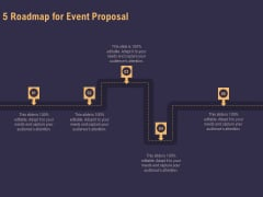 Business Event Planning 5 Roadmap For Event Proposal Ppt Gallery Slides PDF