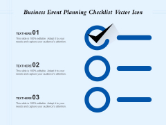 Business Event Planning Checklist Vector Icon Ppt PowerPoint Presentation Gallery Brochure PDF