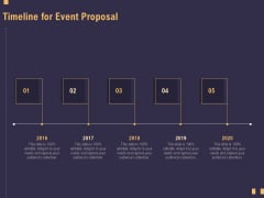Business Event Planning Timeline For Event Proposal Ppt File Icon PDF