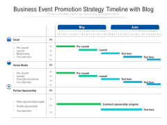 Business Event Promotion Strategy Timeline With Blog Ppt PowerPoint Presentation File Format Ideas PDF