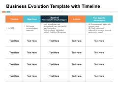 Business Evolution Template With Timeline Ppt PowerPoint Presentation Diagram Images