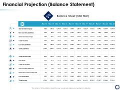 Business Expansion Framework Financial Projection Balance Statement Ppt Professional Design Templates PDF