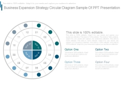 Business Expansion Strategy Circular Diagram Sample Of Ppt Presentation
