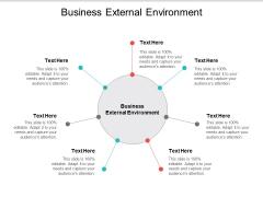 Business External Environment Ppt PowerPoint Presentation Portfolio Background Image Cpb