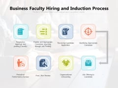 Business Faculty Hiring And Induction Process Ppt PowerPoint Presentation Infographics Icon PDF