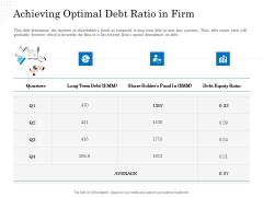 Business Finance Options Debt Vs Equity Achieving Optimal Debt Ratio In Firm Brochure PDF