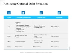 Business Finance Options Debt Vs Equity Achieving Optimal Debt Situation Microsoft PDF