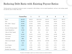 Business Finance Options Debt Vs Equity Reducing Debt Ratio With Existing Payout Ratios Guidelines PDF