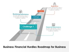 Business Financial Hurdles Roadmap For Business Ppt PowerPoint Presentation File Layout Ideas PDF