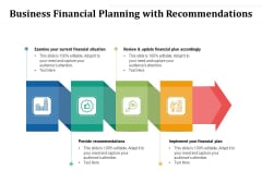 Business Financial Planning With Recommendations Ppt PowerPoint Presentation Professional Graphics Example PDF