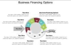 Business Financing Options Ppt PowerPoint Presentation Inspiration Background Designs Cpb