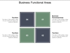 Business Functional Areas Ppt PowerPoint Presentation Infographic Template Inspiration Cpb