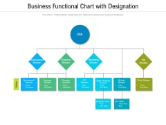 Business Functional Chart With Designation Ppt PowerPoint Presentation Icon Layouts PDF