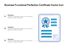 Business Functional Perfection Certificate Vector Icon Ppt PowerPoint Presentation Gallery Introduction PDF