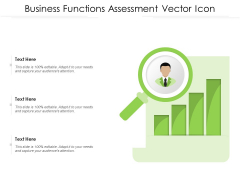 Business Functions Assessment Vector Icon Ppt PowerPoint Presentation File Brochure PDF
