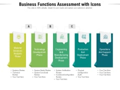 Business Functions Assessment With Icons Ppt PowerPoint Presentation File Slide PDF