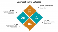 Business Funding Database Ppt PowerPoint Presentation Slides Background Cpb