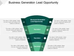 Business Generation Lead Opportunity Ppt PowerPoint Presentation Inspiration Introduction Cpb