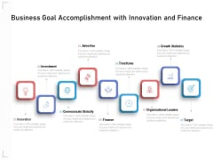 Business Goal Accomplishment With Innovation And Finance Ppt PowerPoint Presentation Slides Mockup PDF