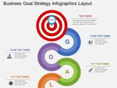 Business Goal Strategy Infographics Layout Powerpoint Template
