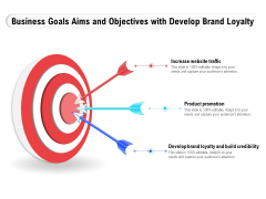 Business Goals Aims And Objectives With Develop Brand Loyalty Ppt Pictures Templates PDF