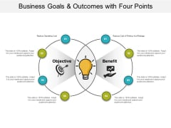 Business Goals And Outcomes With Four Points Ppt PowerPoint Presentation Styles Show