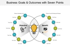 Business Goals And Outcomes With Seven Points Ppt PowerPoint Presentation Show Introduction