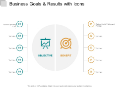 Business Goals And Results With Icons Ppt PowerPoint Presentation Infographic Template Mockup
