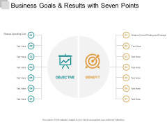 Business Goals And Results With Seven Points Ppt PowerPoint Presentation Slides Show