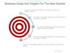 Business Goals And Targets For The Next Quarter Ppt PowerPoint Presentation Icon