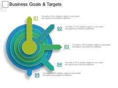 Business Goals And Targets Ppt PowerPoint Presentation Inspiration Show