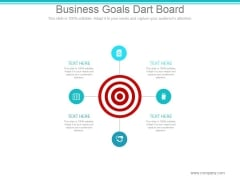 Business Goals Dart Board Ppt PowerPoint Presentation Summary
