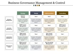 Business Governance Management And Control Ppt Powerpoint Presentation Infographics Background Images