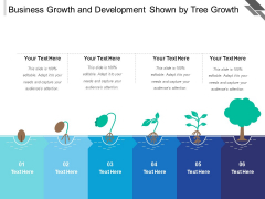 Business Growth And Development Shown By Tree Growth Ppt PowerPoint Presentation File Themes PDF