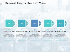 Business Growth Over Five Years Ppt PowerPoint Presentation Deck