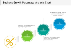 Business Growth Percentage Analysis Chart Ppt PowerPoint Presentation Gallery Pictures PDF