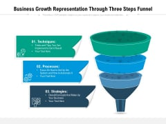 Business Growth Representation Through Three Steps Funnel Ppt PowerPoint Presentation Icon Example File PDF
